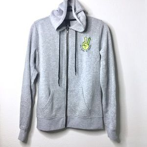 Empyre Alien Patch We Come In Peace Zip Up Hoodie